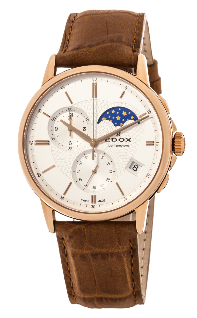 Часы Edox Les Bemonts Chronograph Moon Phase 01651 37R AIR