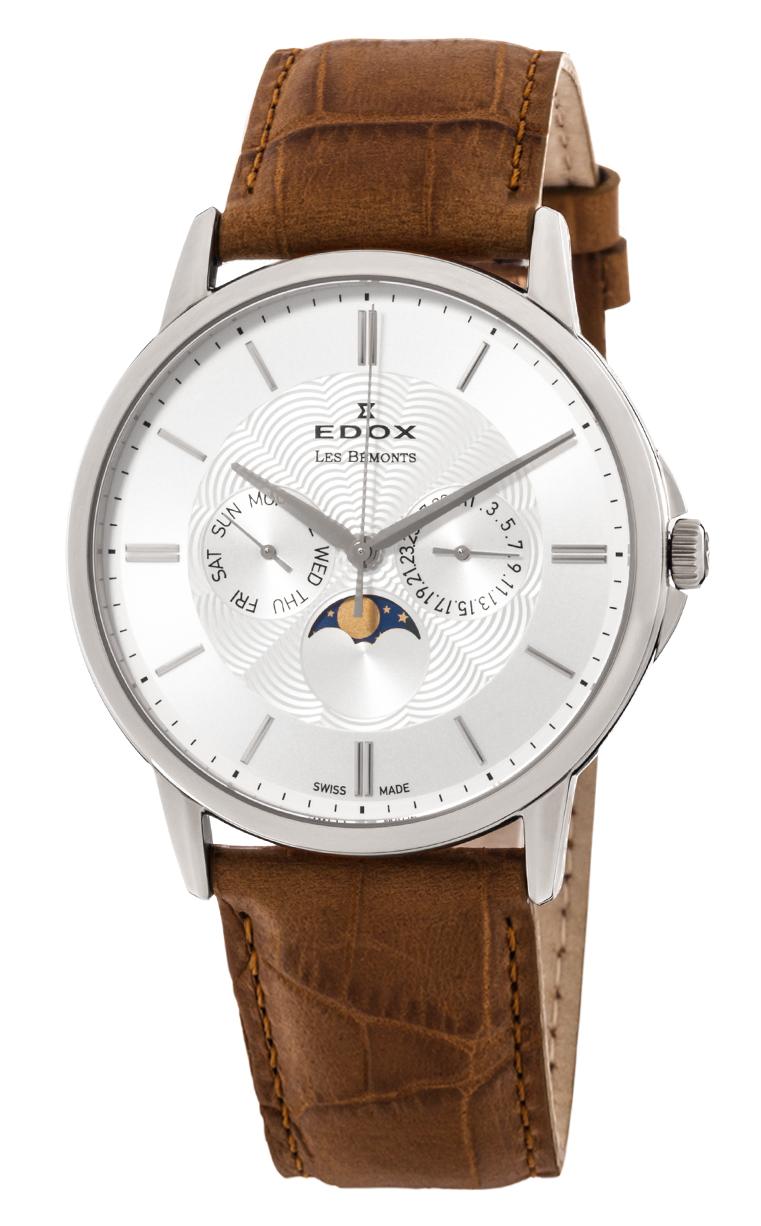 Часы Edox Les Bemonts Moon Phase Complication 40002 3 AIN
