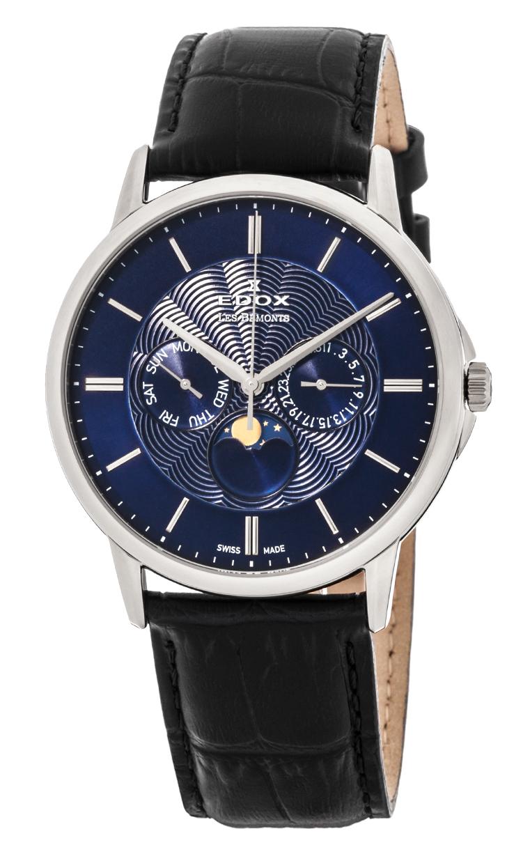 Часы Edox Les Bemonts Moon Phase Complication 40002 3 BUIN