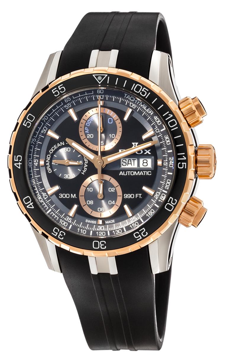 Часы Edox Grand Ocean Chronograph Automatic 01123 357RCA NBUR
