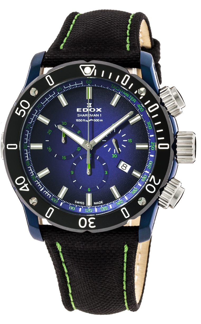 Часы Edox CO-1 Sharkman I L.E. 10221 357BU BUV