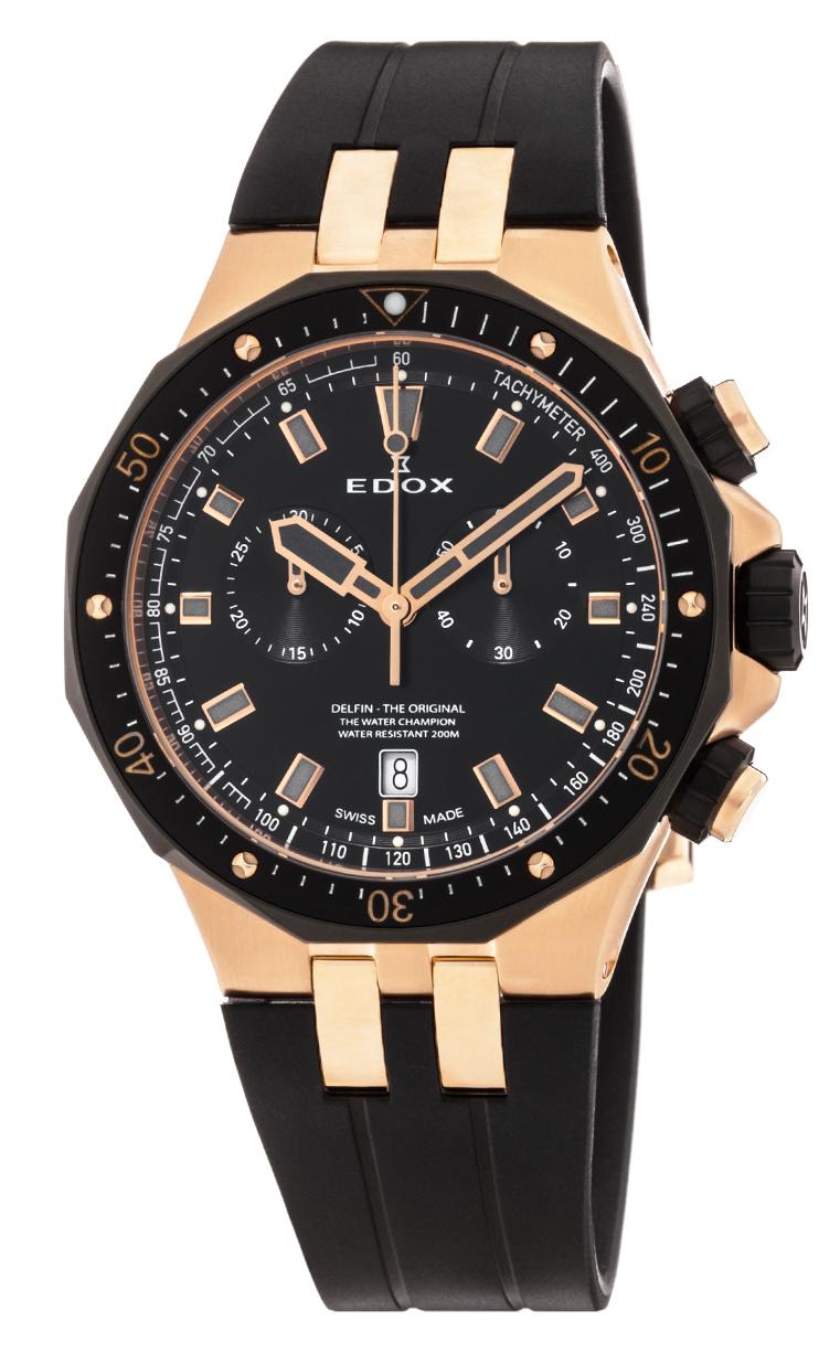 Часы Edox Delfin Chronograph 10109 357RNCA NIRG