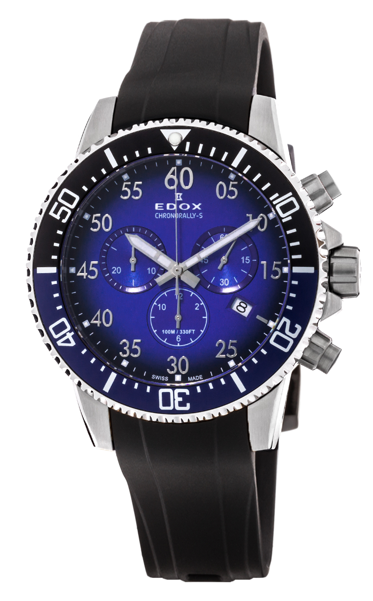 Часы Edox Chronorally-S Chronograph 10227 3NBUCA BUBN