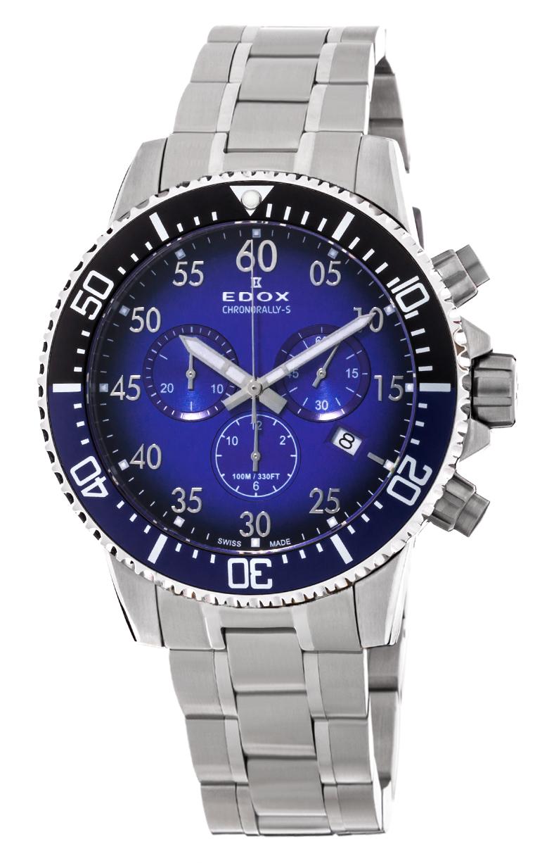 Часы Edox Chronorally-S Chronograph 10227 3NBUM BUBN