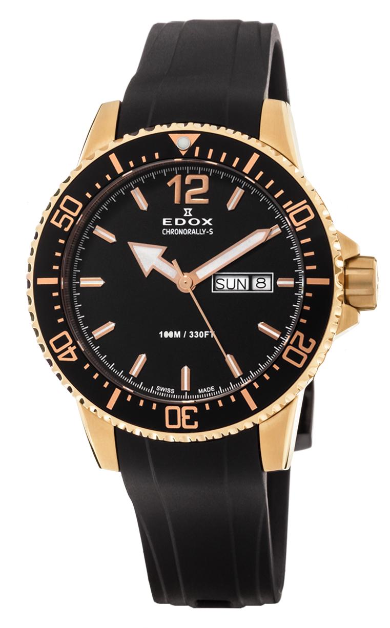 Часы Edox Chronorally-S 3-Hands 84300 37RCA NBR
