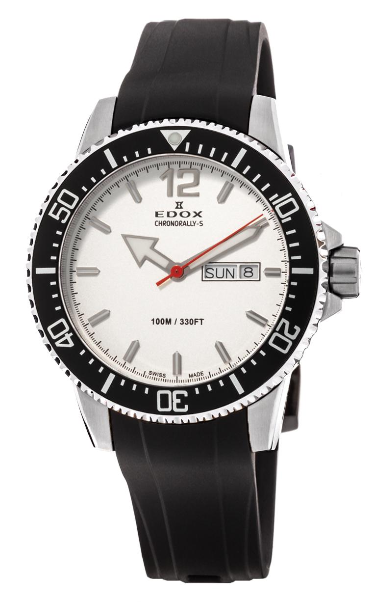 Часы Edox Chronorally-S 3-Hands 84300 3CA ABN