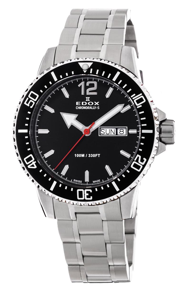 Часы Edox Chronorally-S 3-Hands 84300 3M NBN