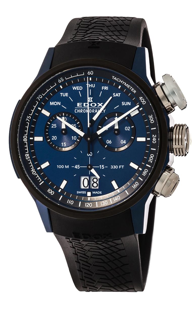Часы Edox Chronorally Chronograph 38001 TINBU1 BUIB1