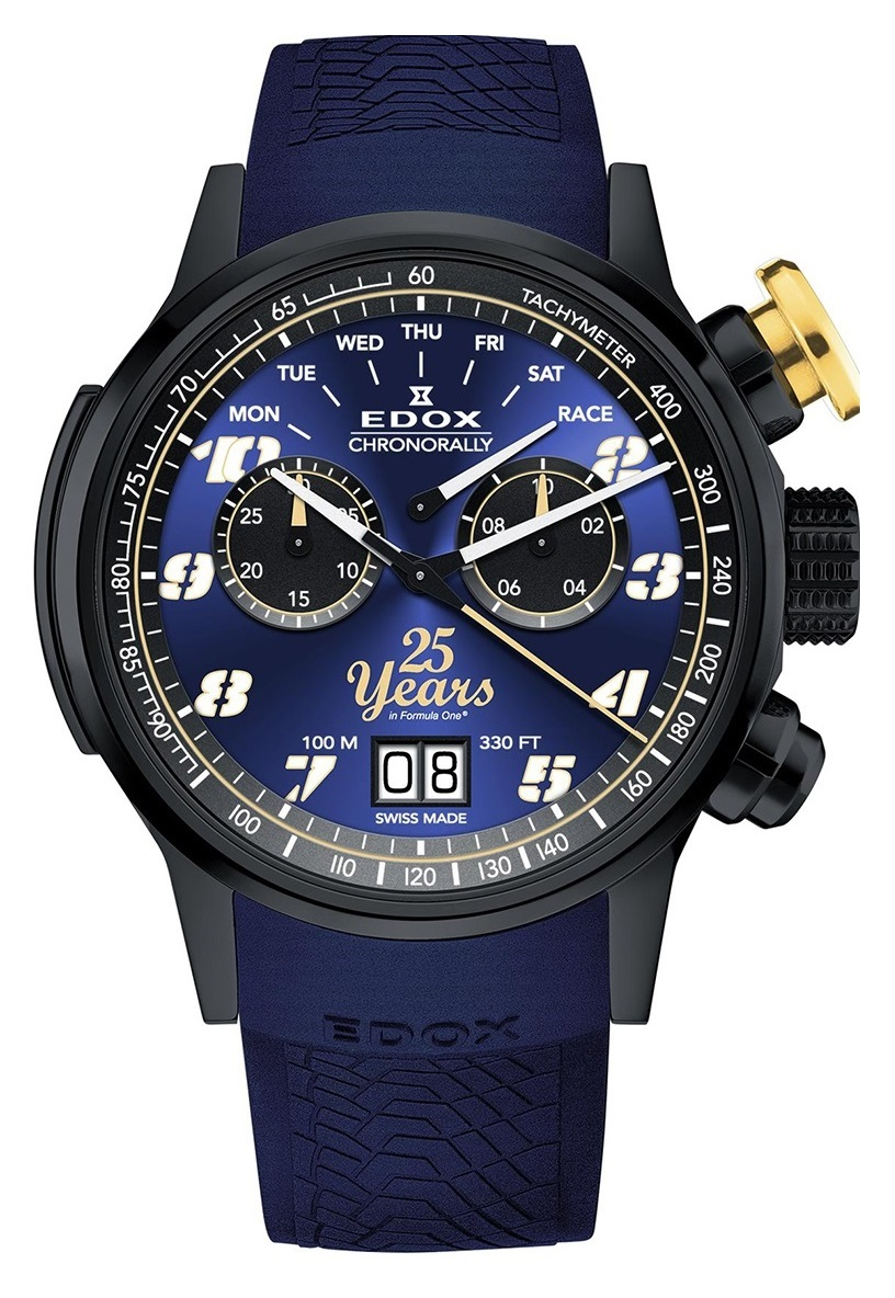 "Часы Edox Chronorally Sauber F1 Team ""25th Anniversary"" 38001 TINN2 BUB25"