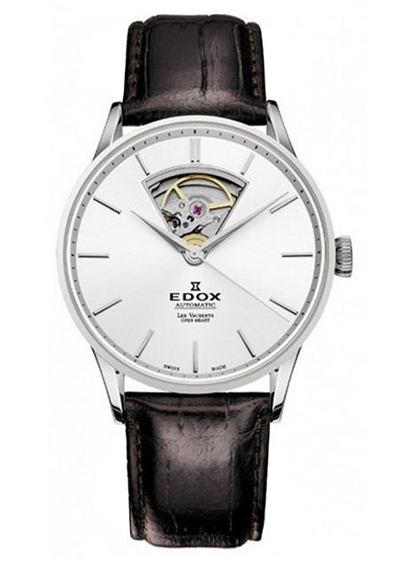 Часы Edox Les Vauberts Open Heart Automatic 85010 3AIN
