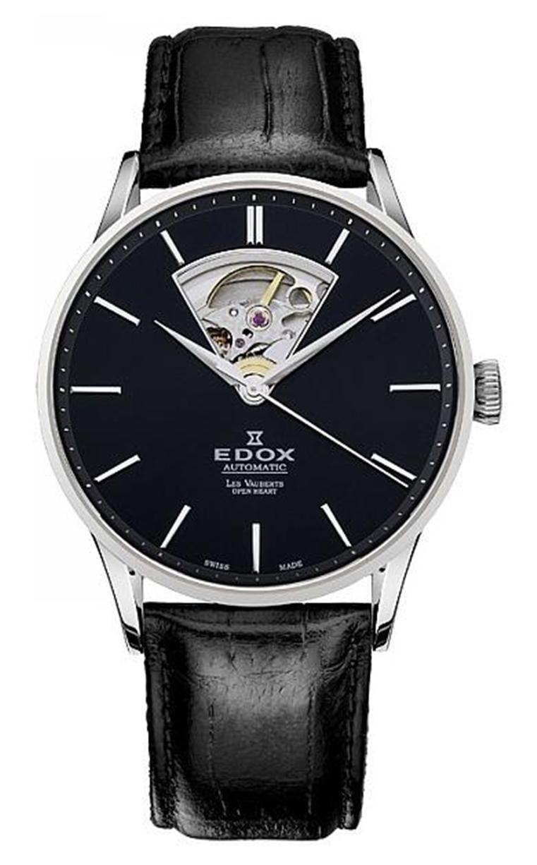 Часы Edox Les Vauberts Open Heart Automatic 85010 3NIN