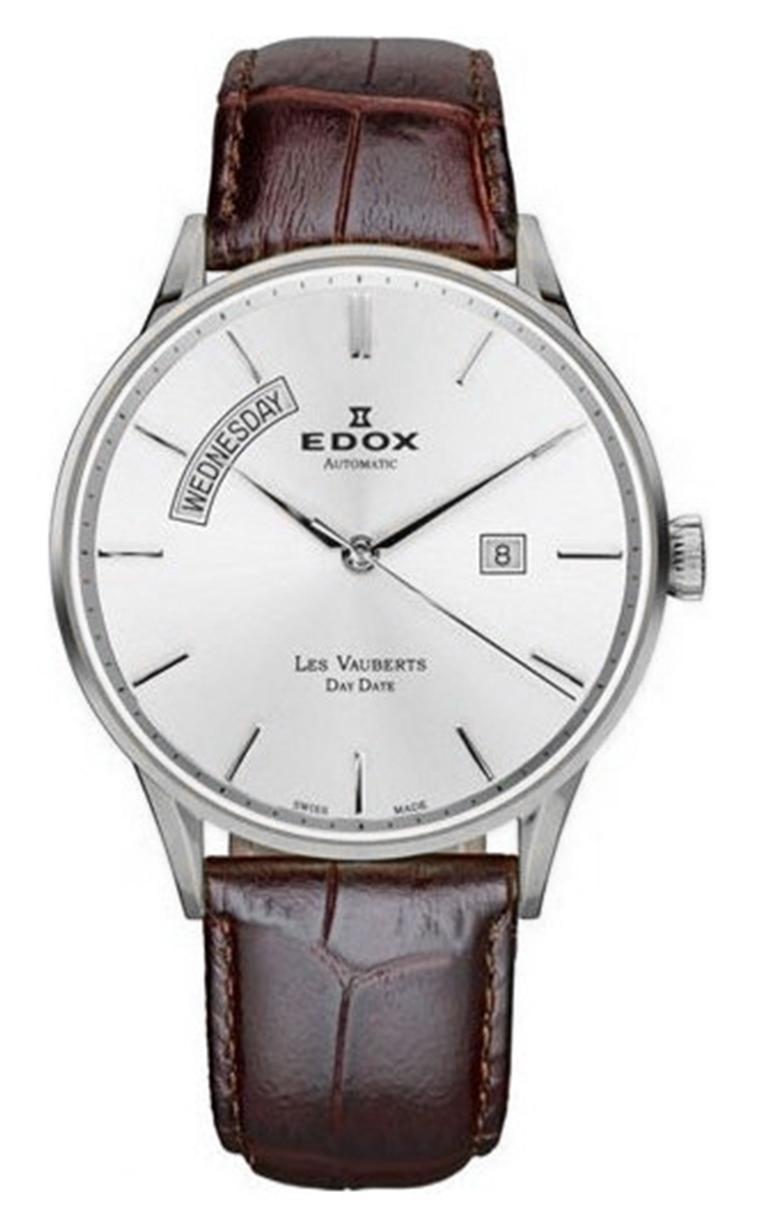 Часы Edox Les Vauberts Day Date Automatic 83010 3B AIN