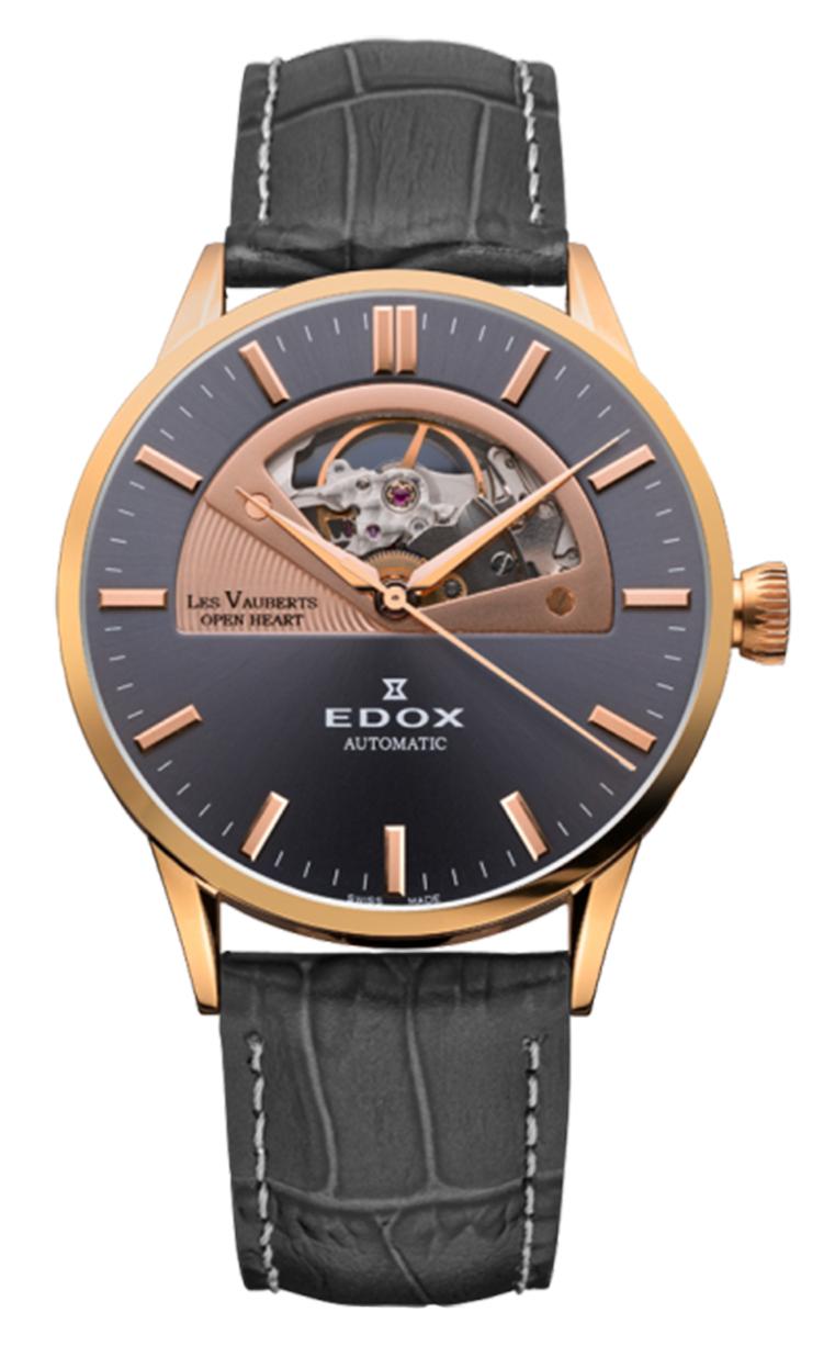 Часы Edox Les Vauberts Open Heart Automatic 85014 37R GIR