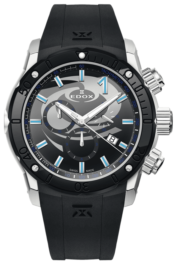 Edox Class-1 Chronograph 10221 3N NINCU Curling Special Edition