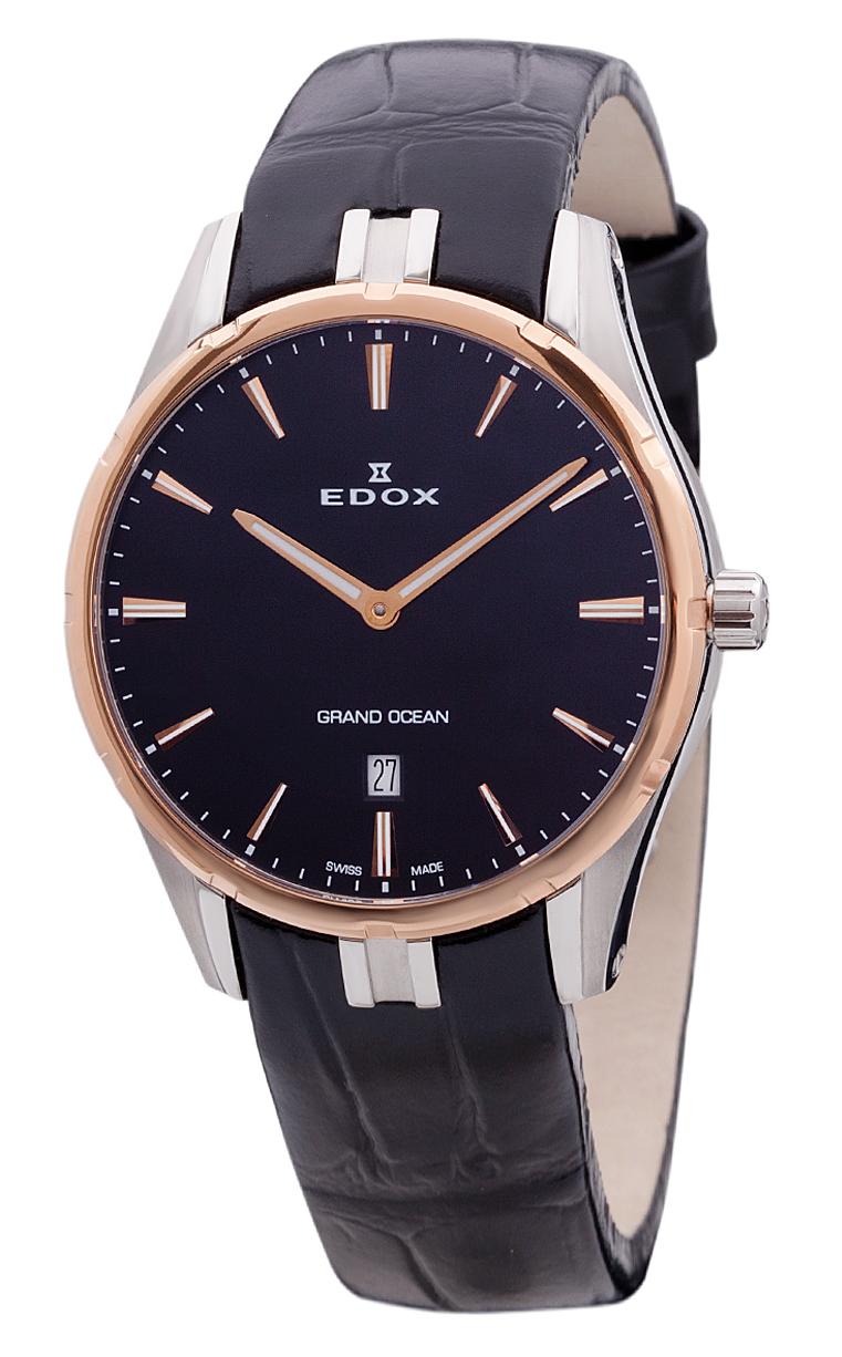 Часы Edox Grand Ocean Slim Line Date 56002 357RC NIR