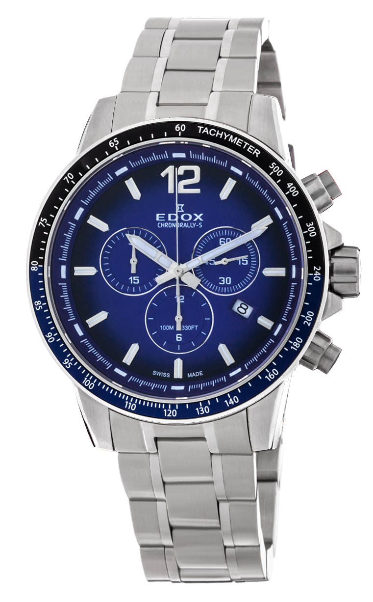 Часы Edox Chronorally-S Chronograph 10229 3NBUM BUIN