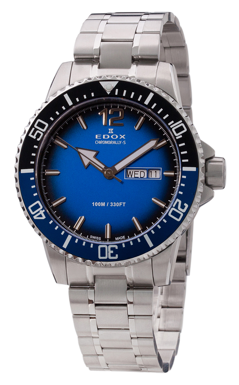 Часы Edox Chronorally-S 3-Hands 84300 3NBUM BUBN