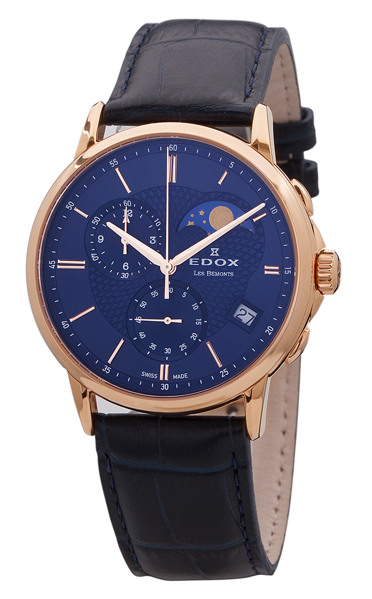 Часы Edox Les Bemonts Chronograph Moon Phase 01651 37R BUIR