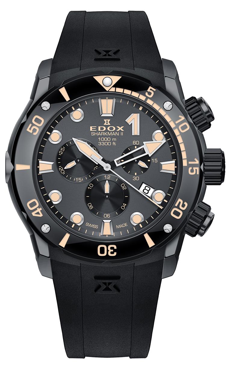 Часы Edox CO-1 SHARKMAN II 10234 357GN NINB Limited Edition