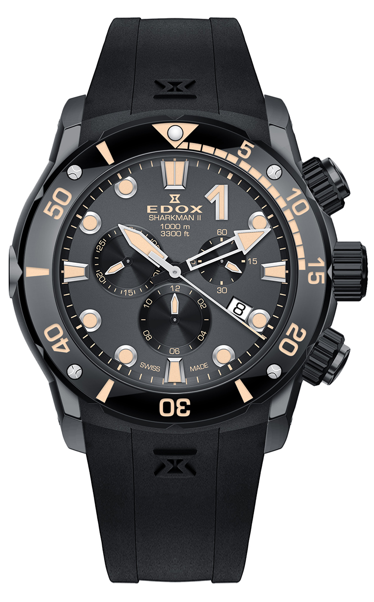 Часы Edox CO-1 SHARKMAN II 10234 357GN NINB Limited Edition