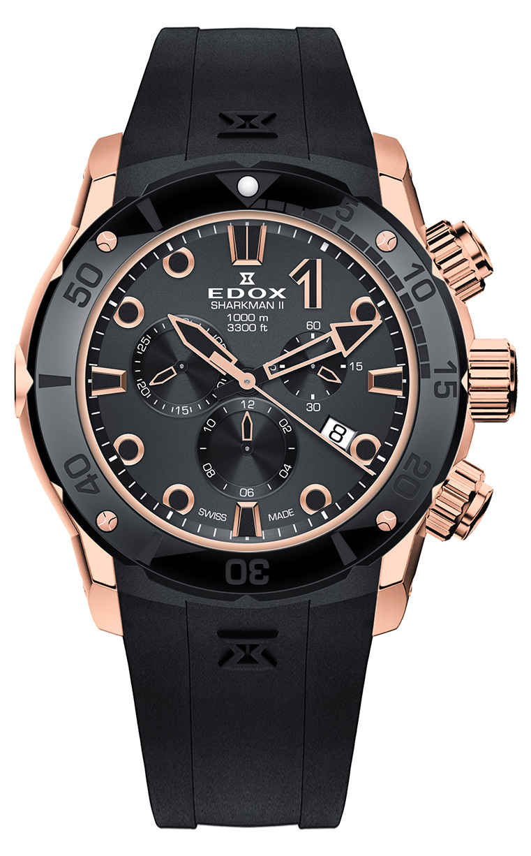 Часы Edox CO-1 SHARKMAN II 10234 357RN NIR Limited Edition