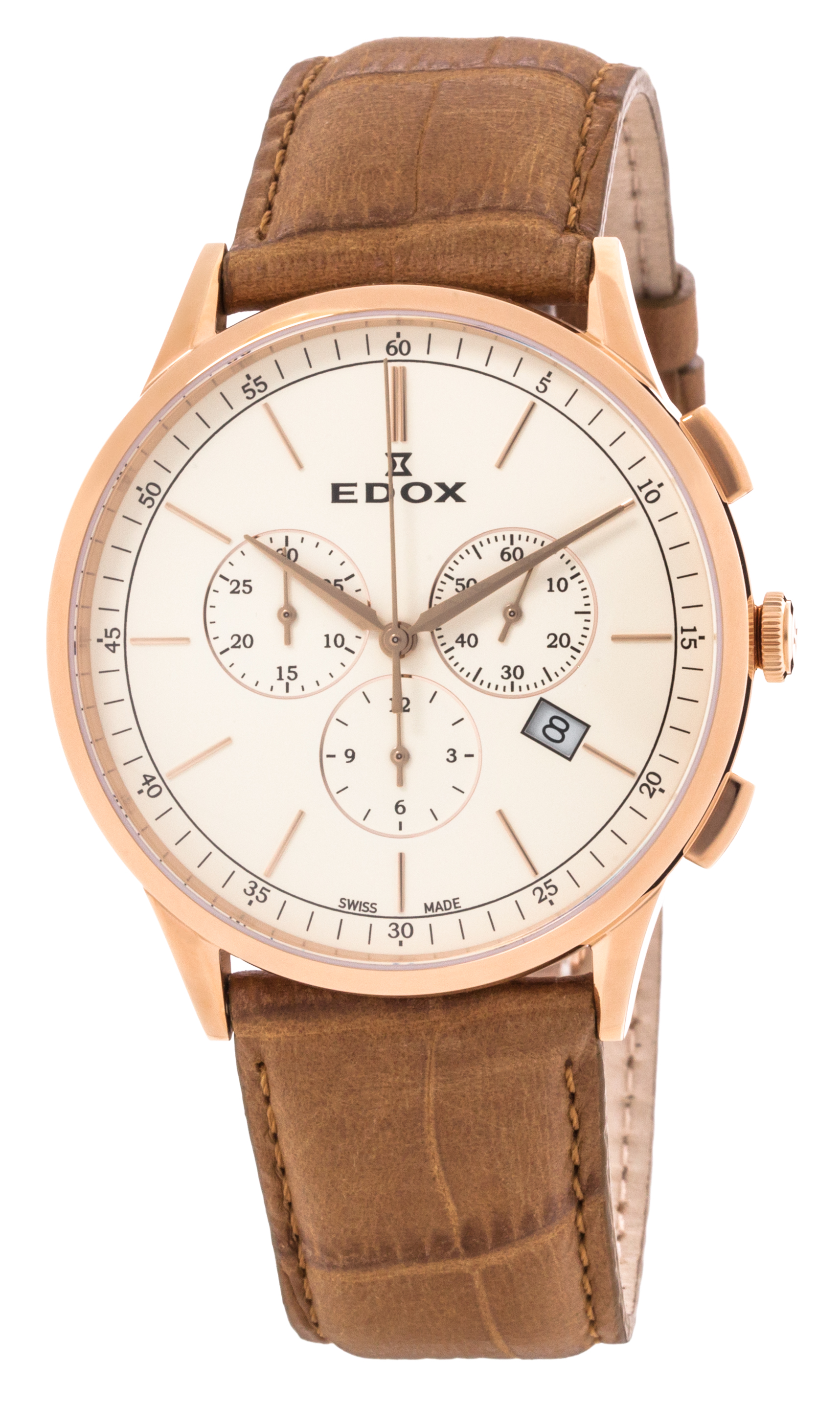 Edox Les Vauberts Chronograph Date 10236 37RC BEIR