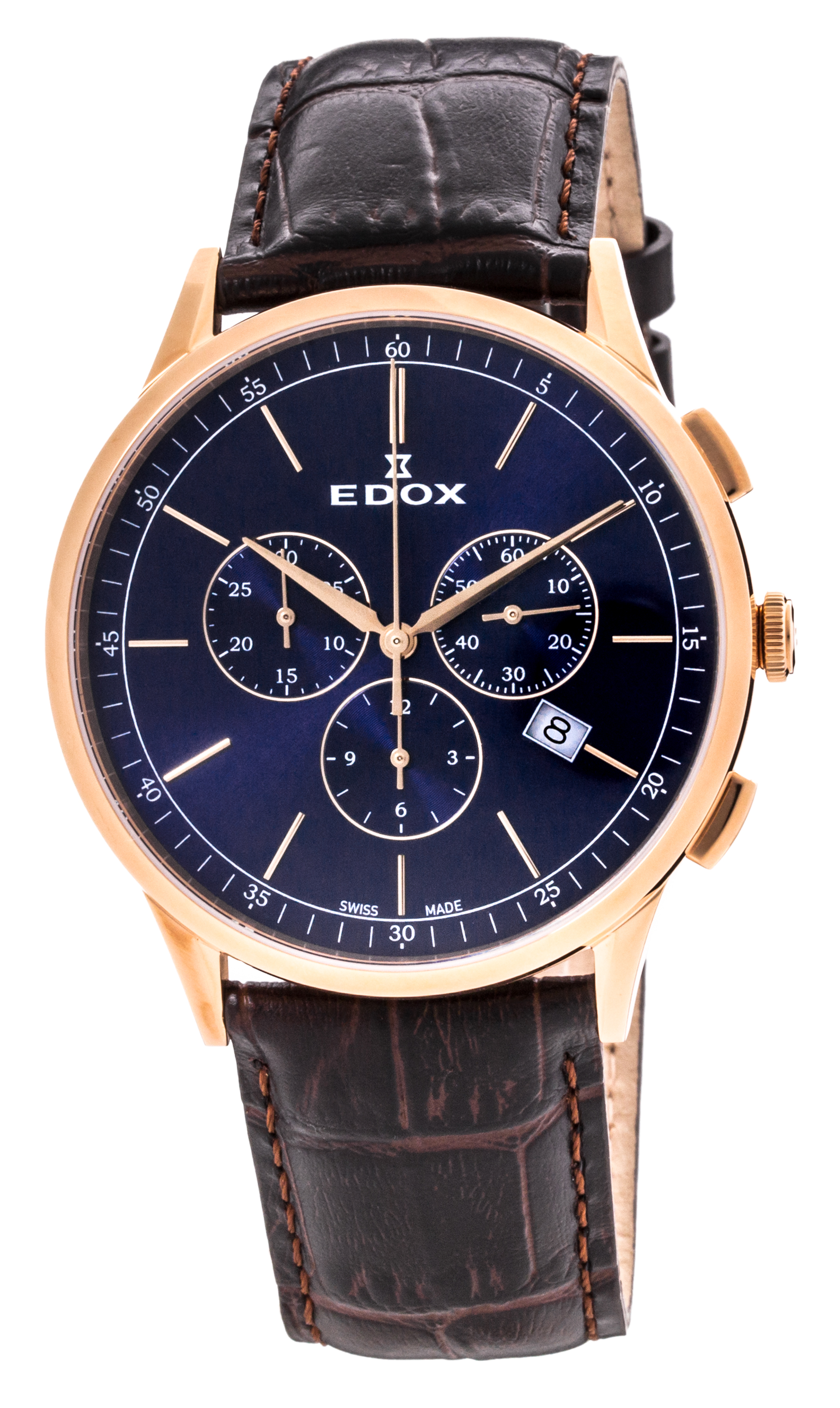 Edox Les Vauberts Chronograph Date 10236 37RC BUIR