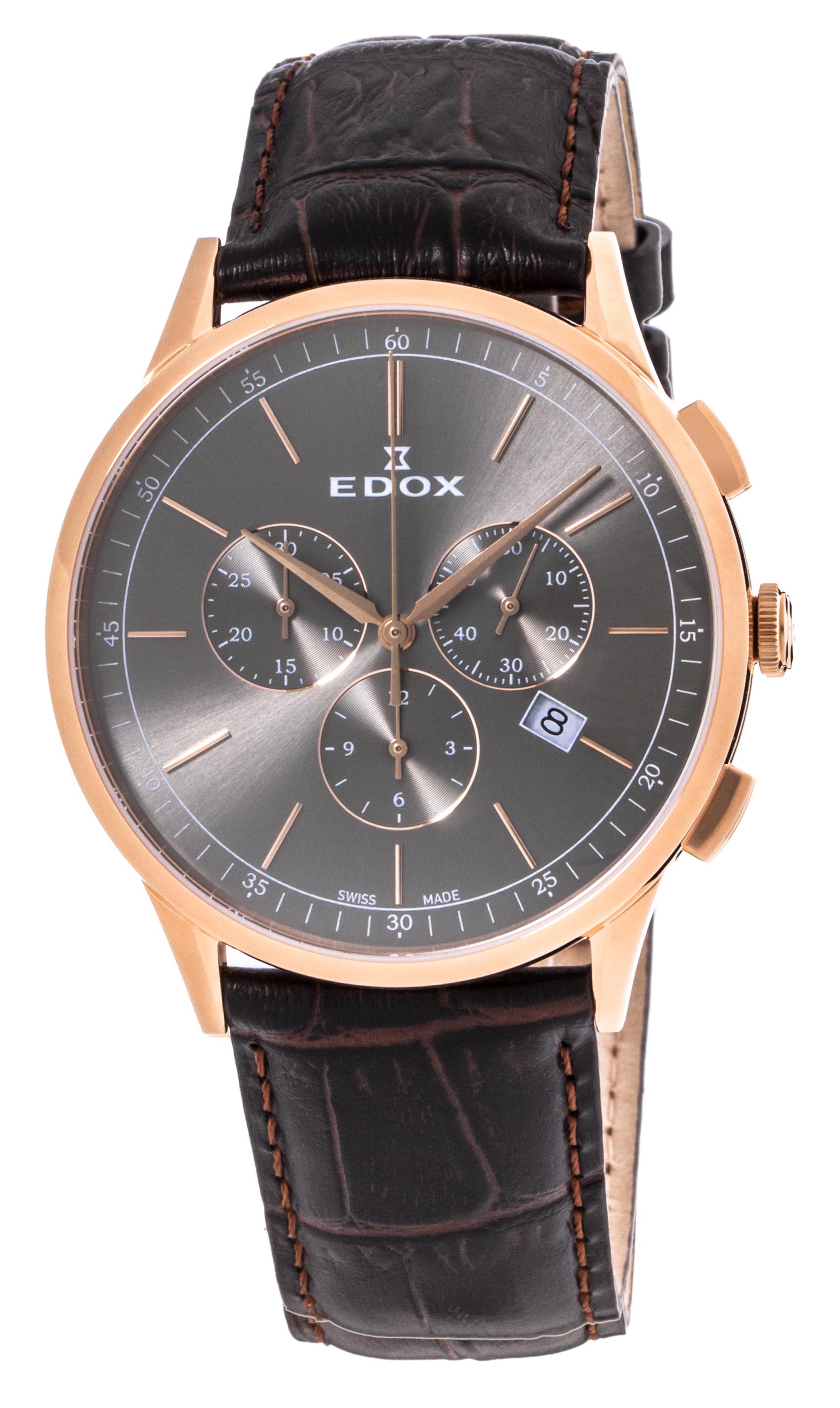 Часы Edox Les Vauberts Chronograph Date 10236 37RC GIR
