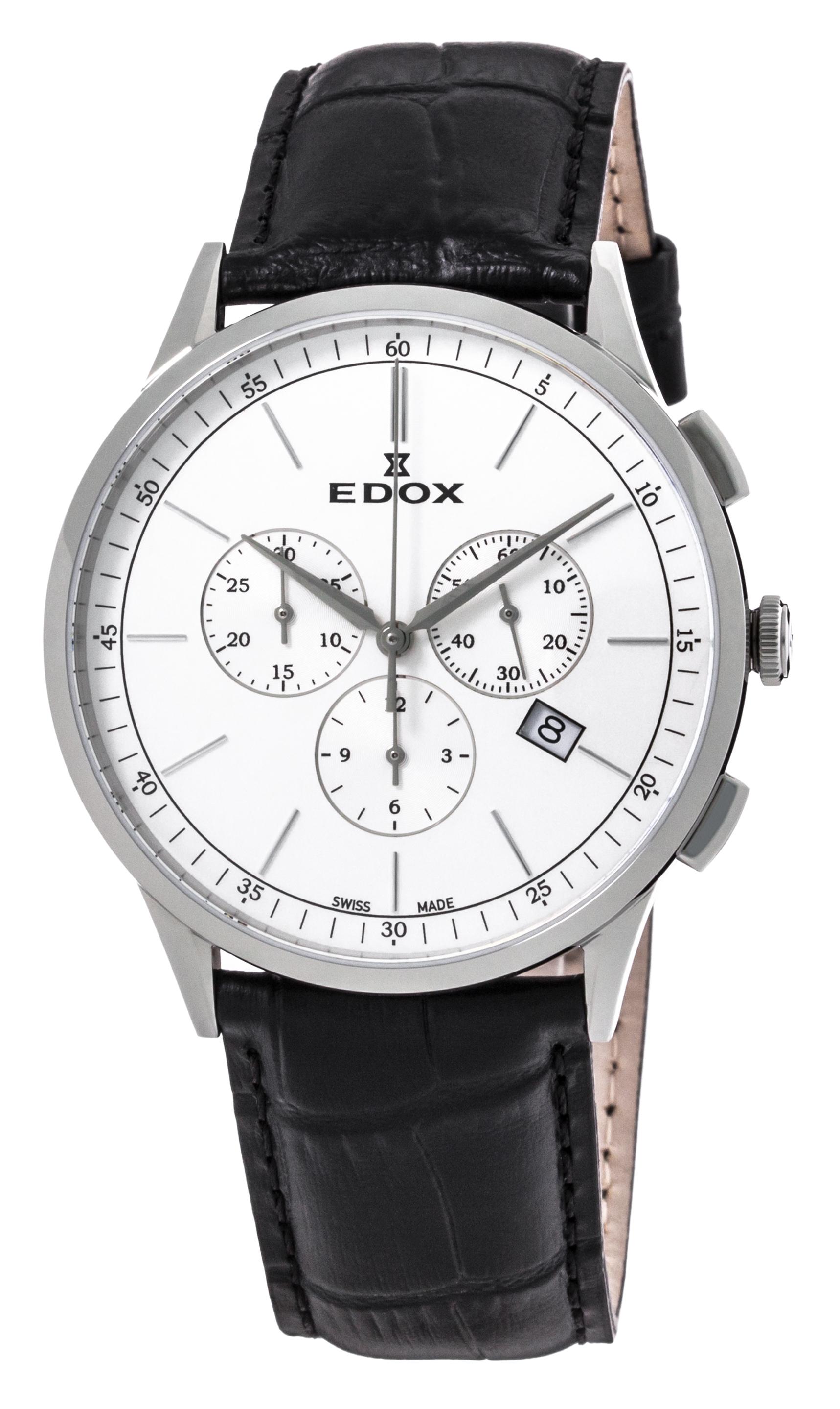 Часы Edox Les Vauberts Chronograph Date 10236 3C AIN