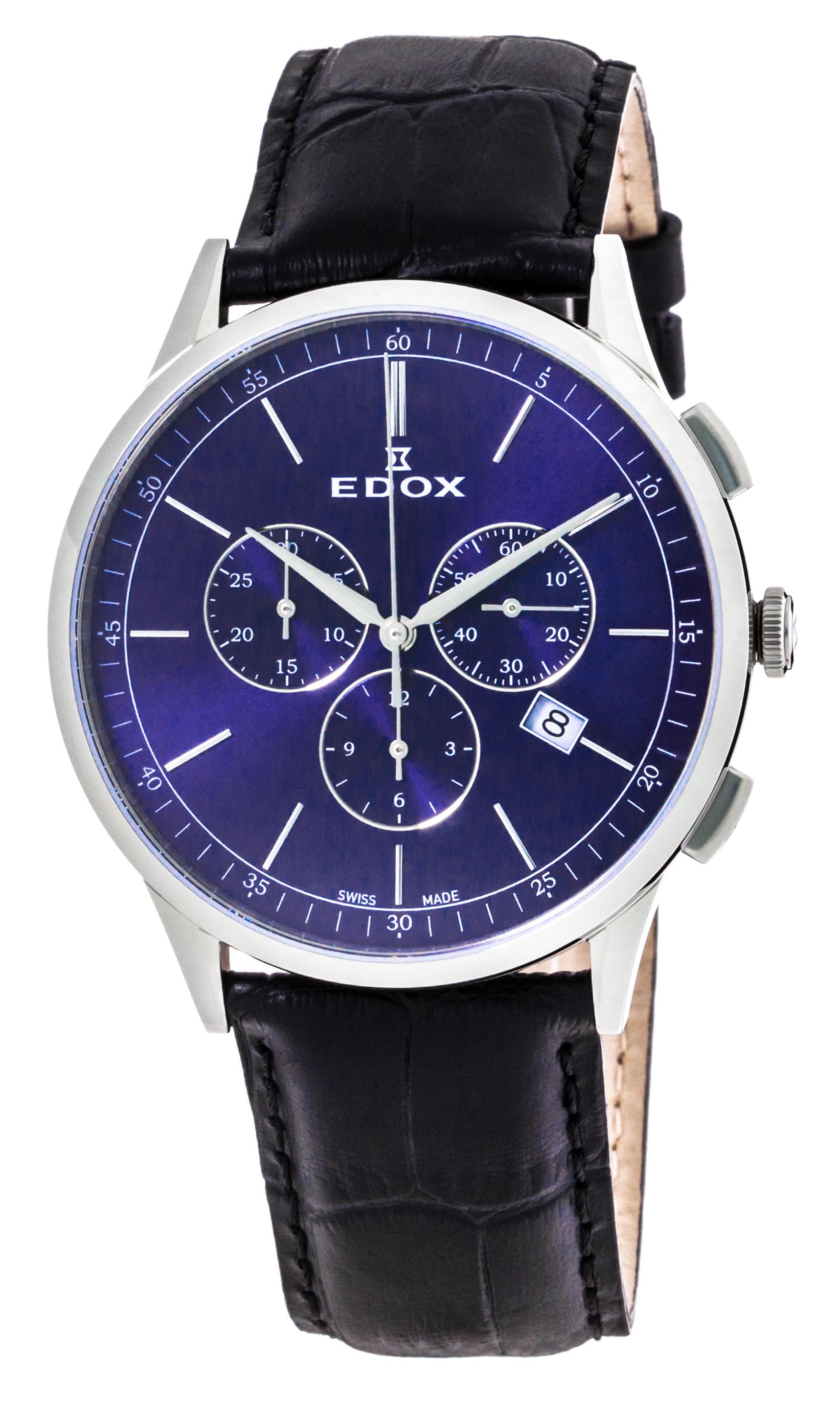 Часы Edox Les Vauberts Chronograph Date 10236 3C BUIN