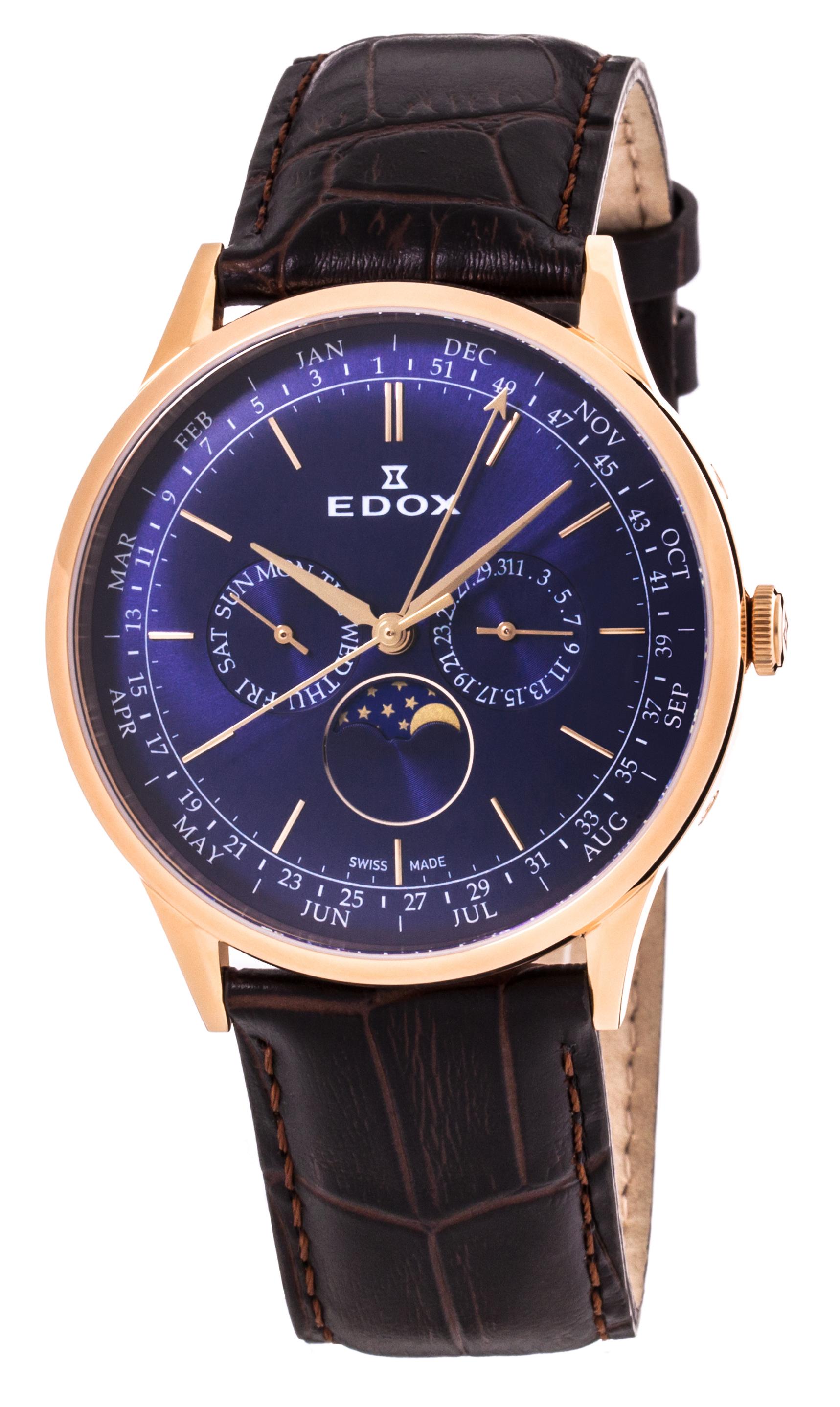 Часы Edox Les Vauberts Annual Calendar 40101 37RC BUIR