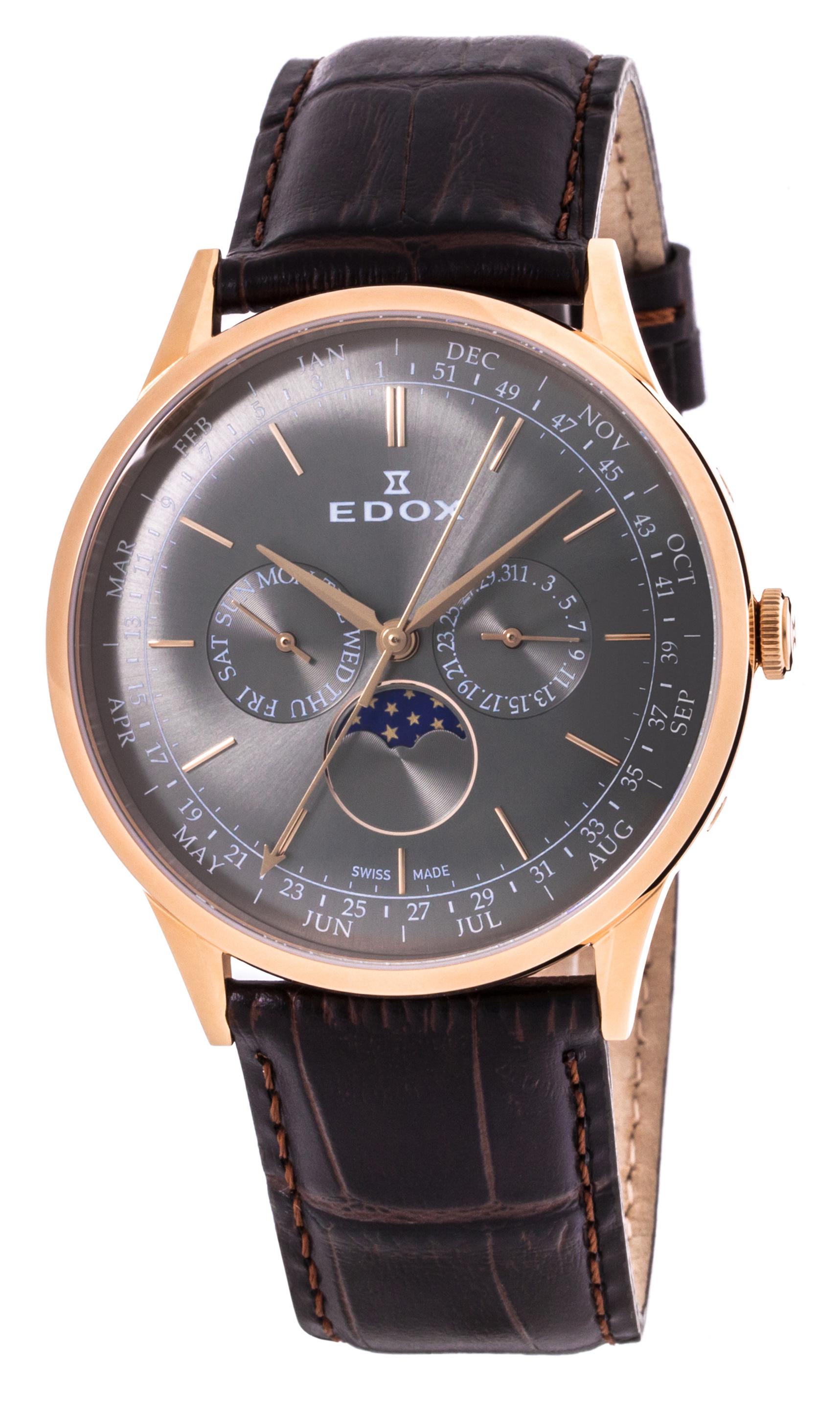 Часы Edox Les Vauberts Annual Calendar 40101 37RC GIR