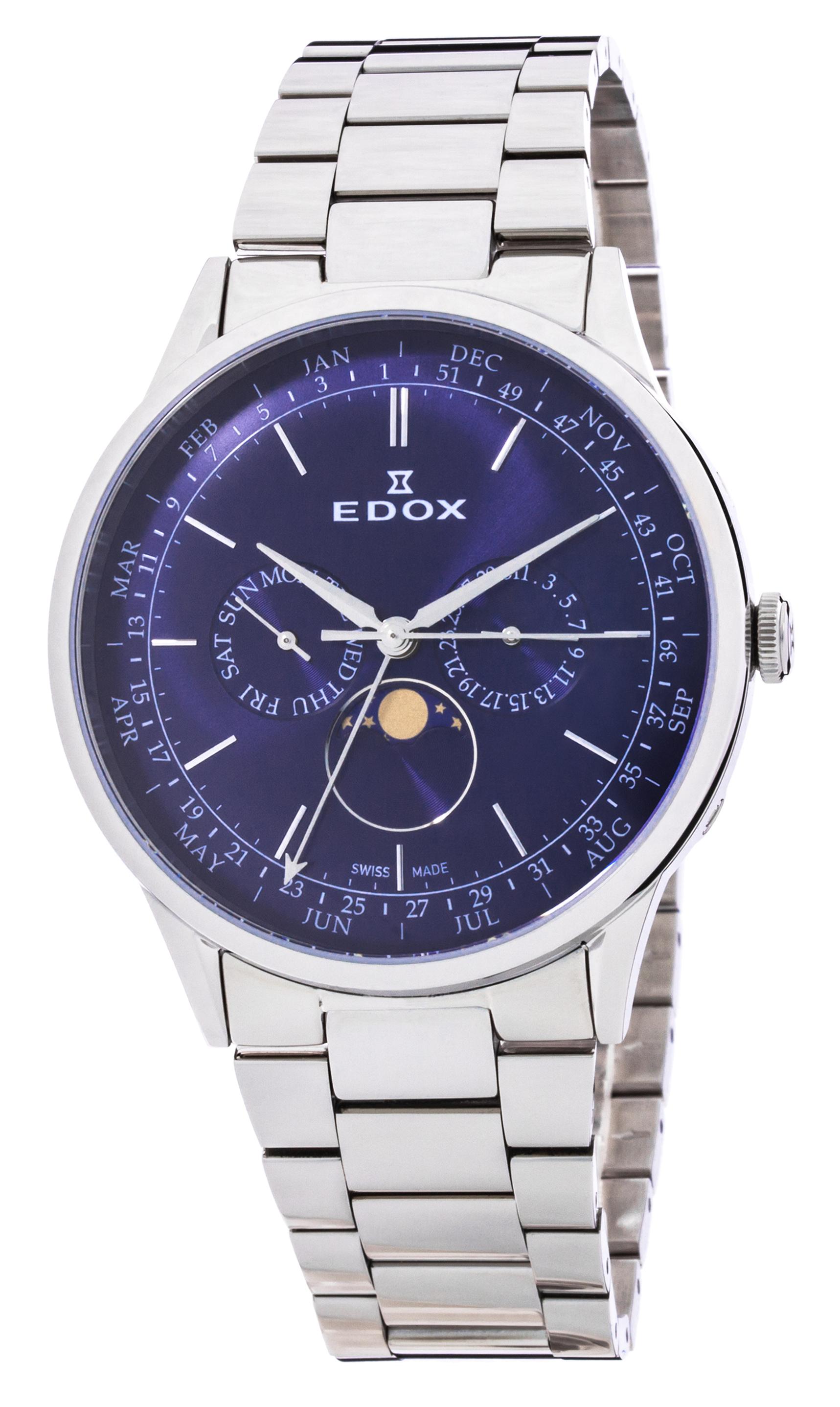 Часы Edox Les Vauberts Annual Calendar 40101 3M BUIN