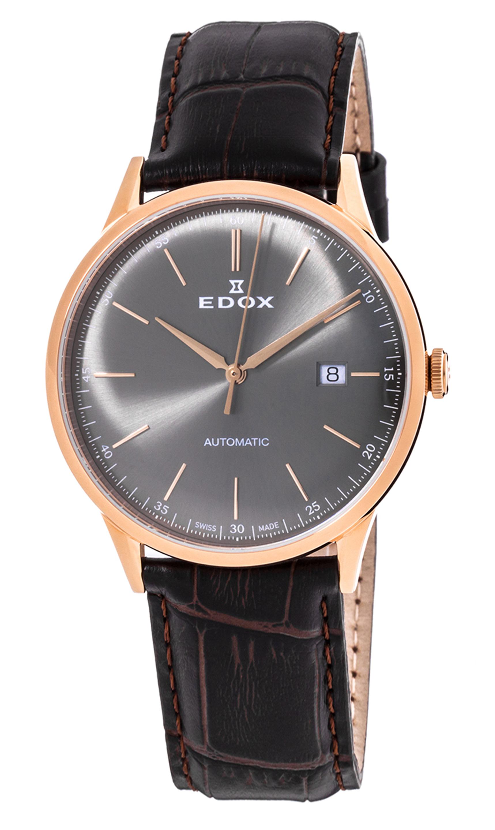 Часы Edox Les Vauberts Automatic Date 80106 37RC GIR