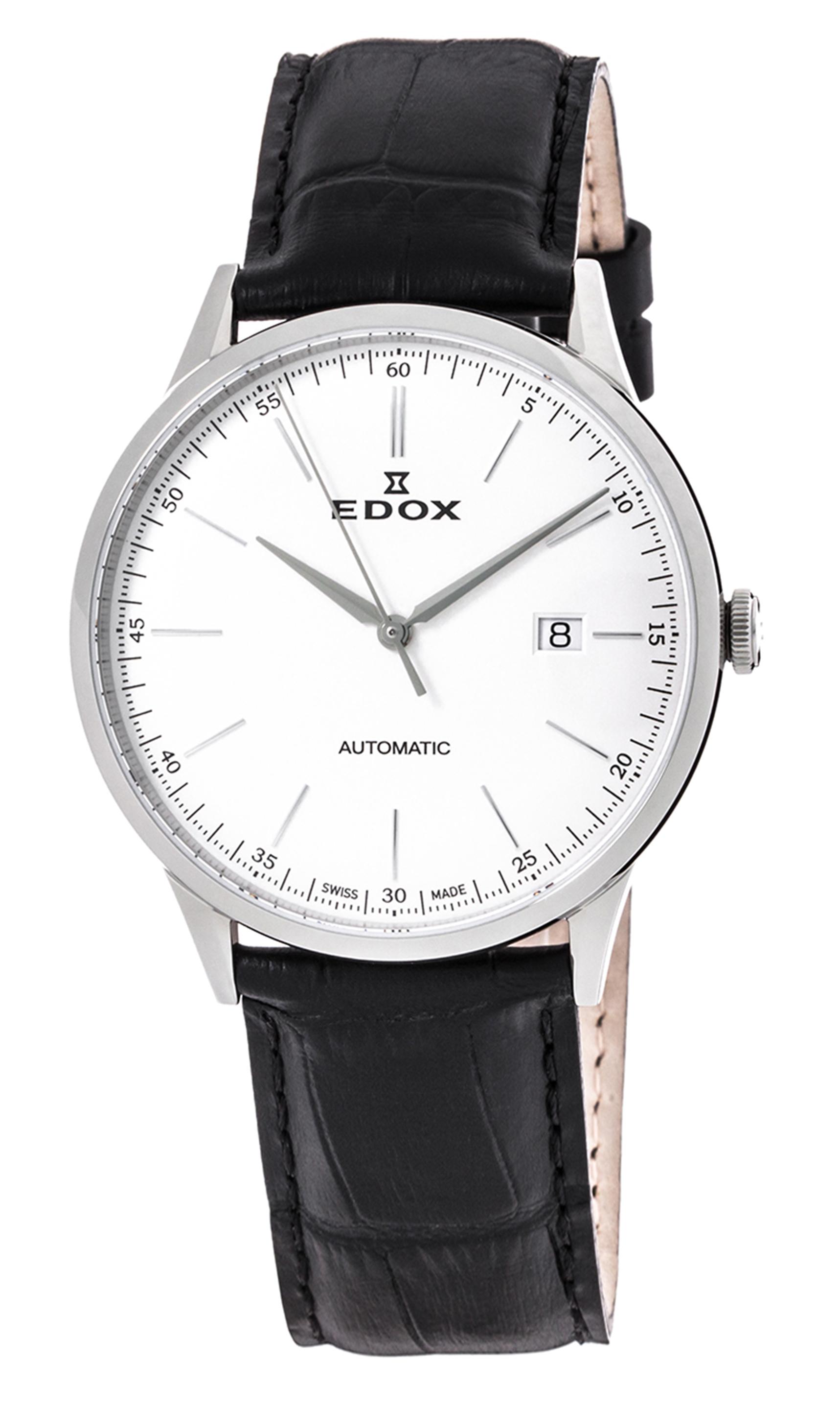 Часы Edox Les Vauberts Automatic Date 80106 3C AIN
