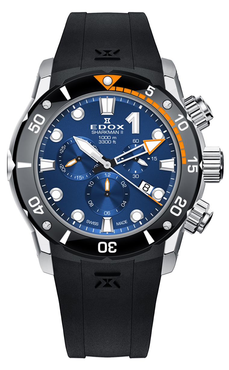 Часы Edox CO-1 SHARKMAN II 10234 3O NIN Limited Edition