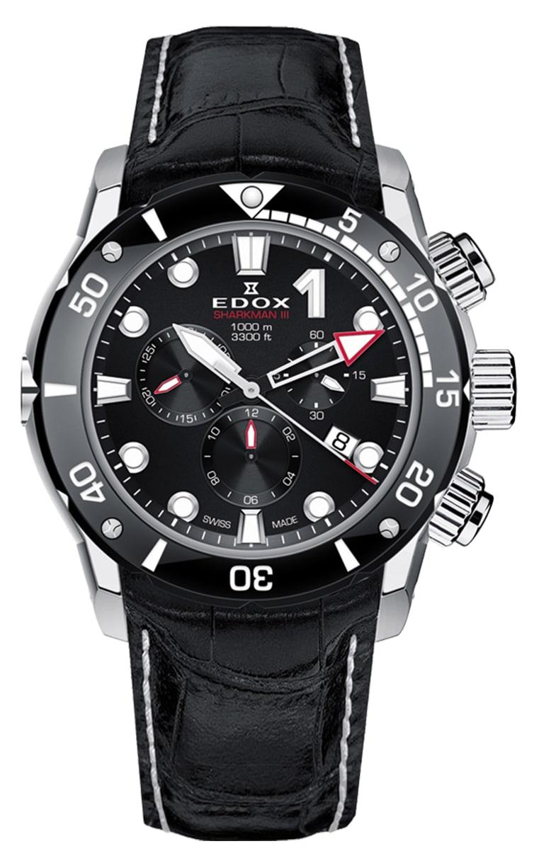 Часы Edox CO-1 SHARKMAN III 10241 TIB NIN Limited Edition