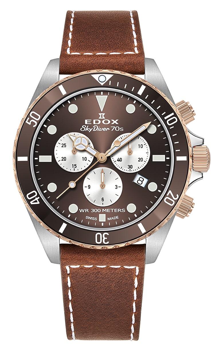 Часы Edox SkyDiver 70S Chronograph 10238 357RBRC BRIA