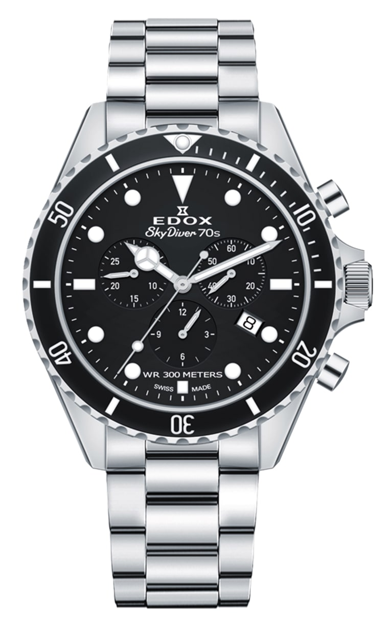 Часы Edox SkyDiver 70S Chronograph 10238 3NM NI