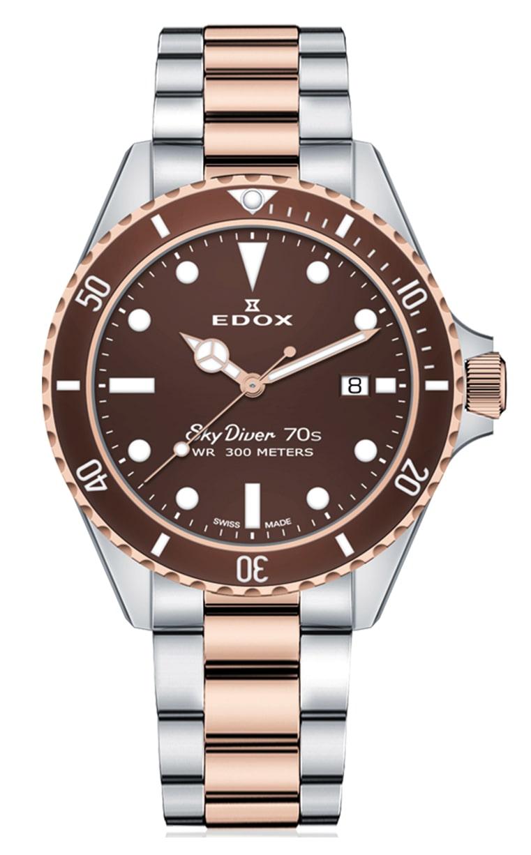 Часы Edox SkyDiver 70s Date 53017 357RBRM BRI