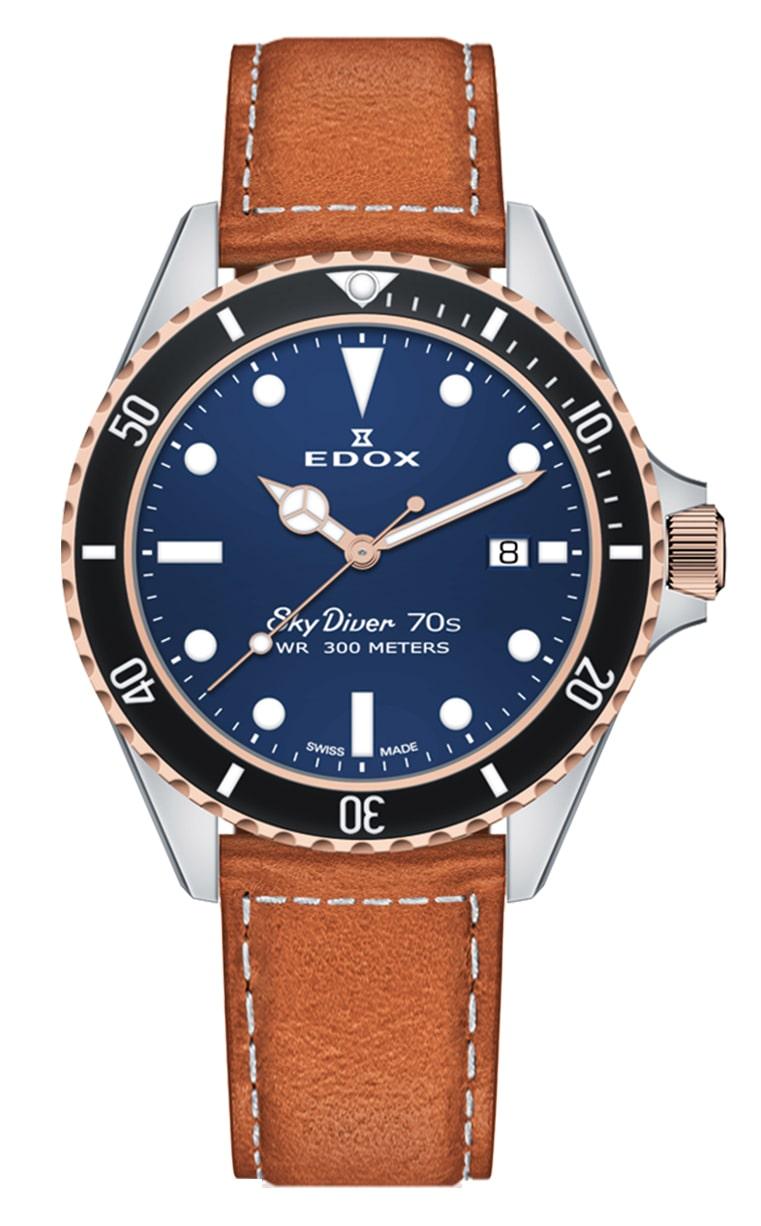 Часы Edox SkyDiver 70s Date 53017 357RNC BUI