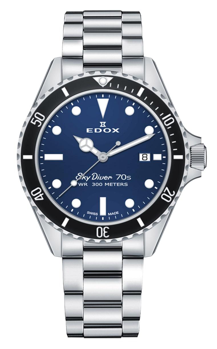 Часы Edox SkyDiver 70s Date 53017 3NM BUI