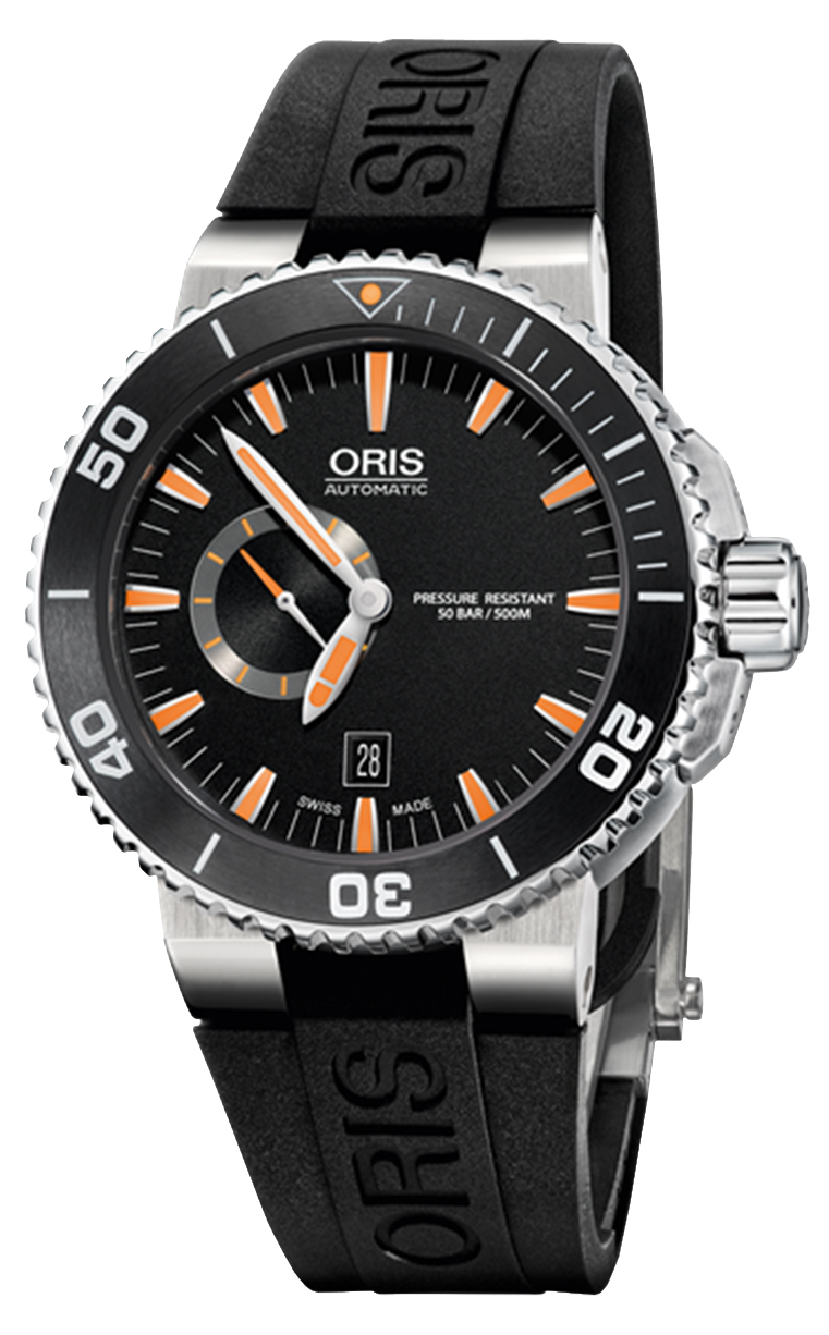 Oris Diving Aquis Small Second 743.7673.4159 RS 4.26.34EB