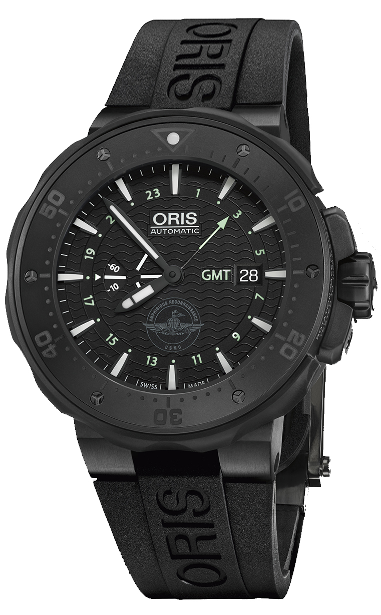 Oris Diving Force Recon GMT 747.7715.7754 Set