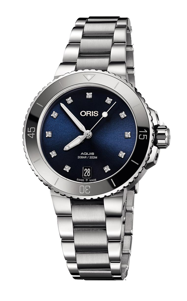 Часы Oris Diving Aquis Date Diamonds 733.7731.4195.MB 8.18.05P