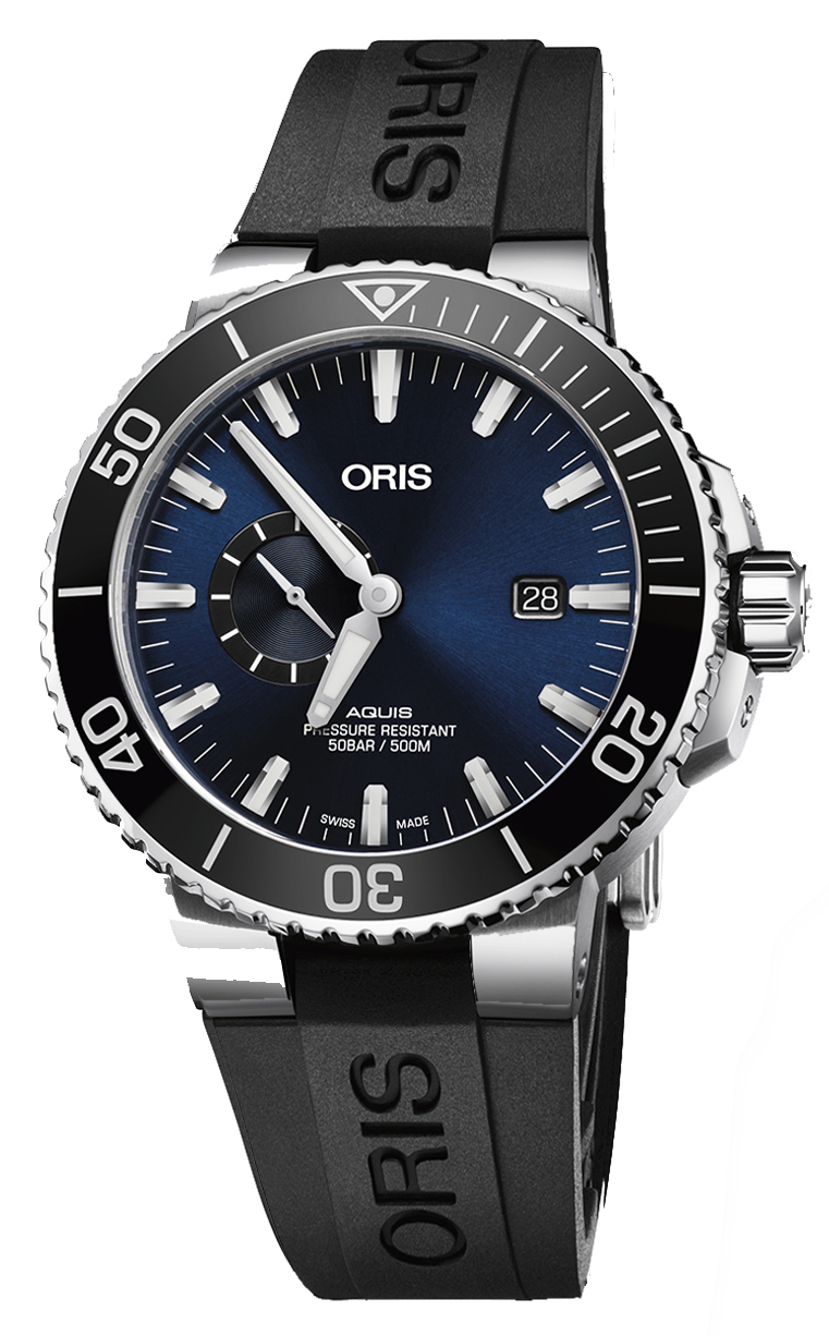 Oris Diving Aquis Small Second 743.7733.4135 RS 4.24.64EB