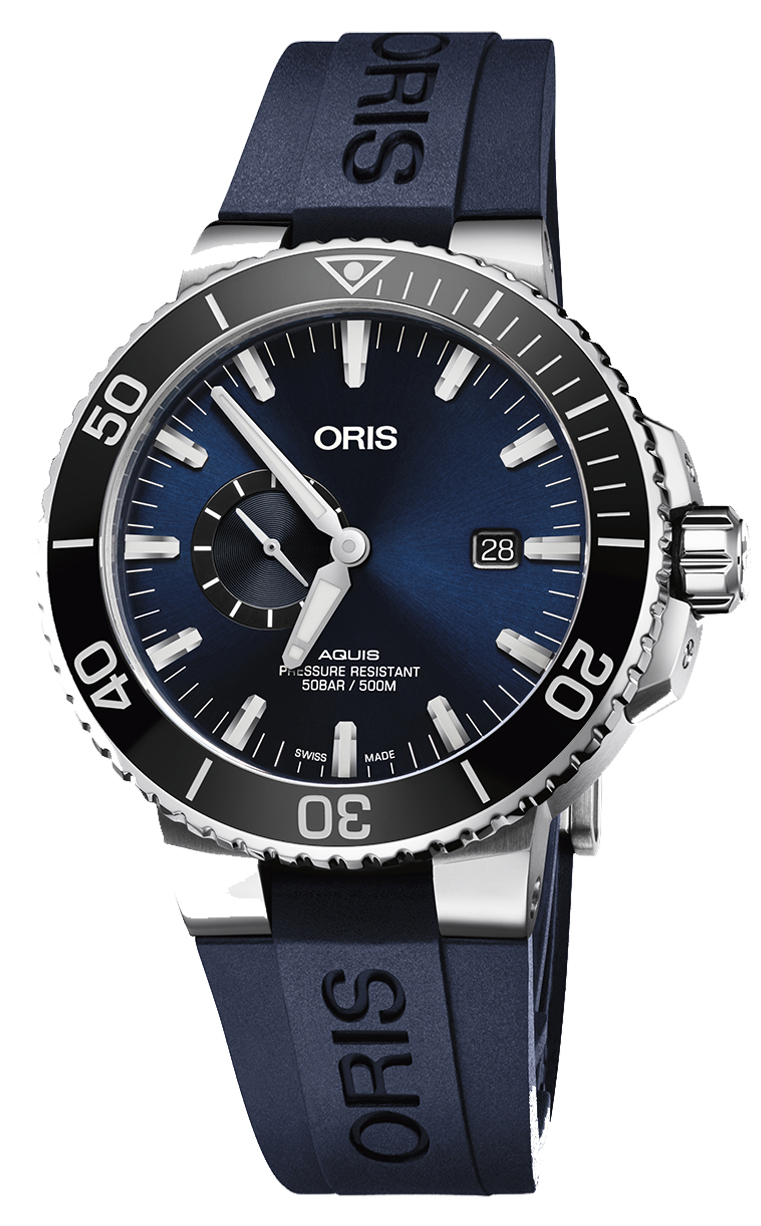 Oris Diving Aquis Small Second 743.7733.4135 RS 4.24.65EB