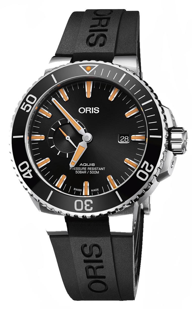 Oris Diving Aquis Small Second 743.7733.4159 RS 4.24.64EB