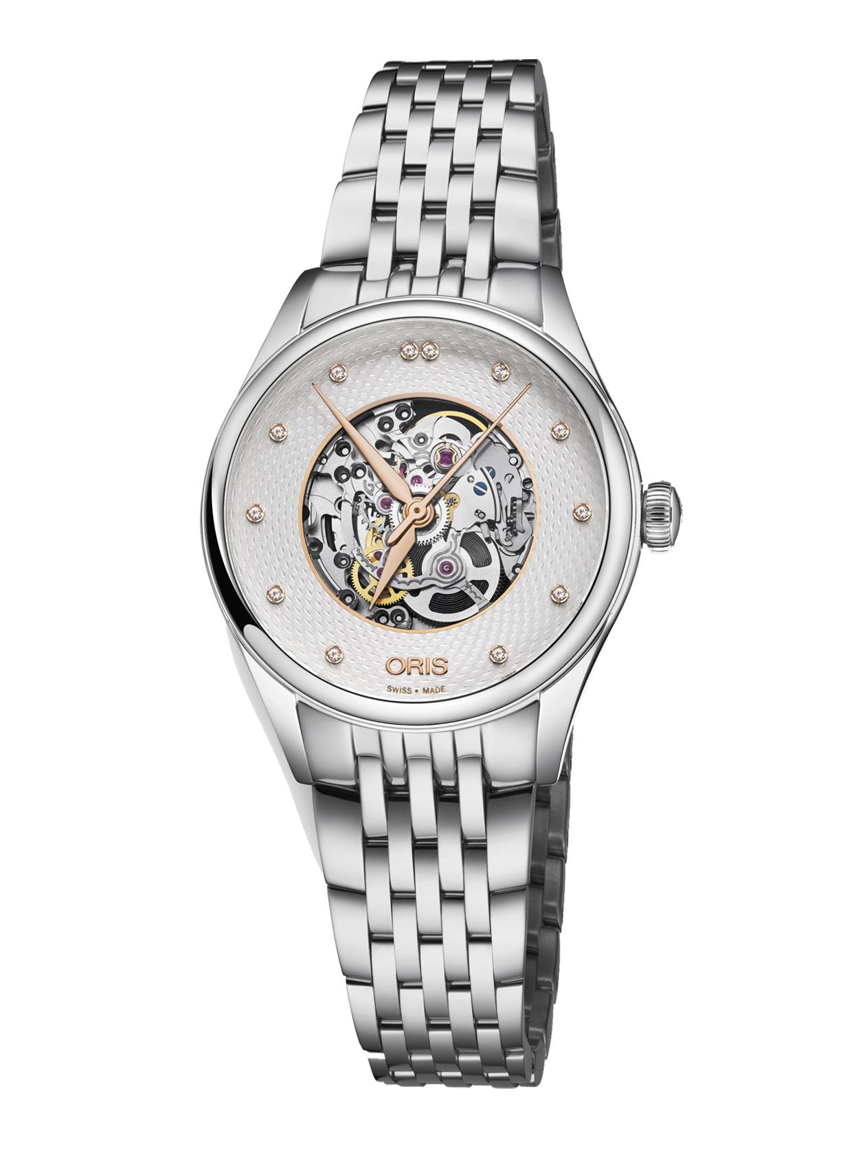 Часы Oris Culture Artelier Skeleton Diamonds 560.7724.4031 MB 8.17.79