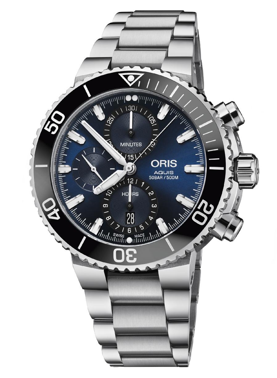 Часы Oris Diving Aquis Chronograph 774.7743.4155 MB 8.24.05PEB